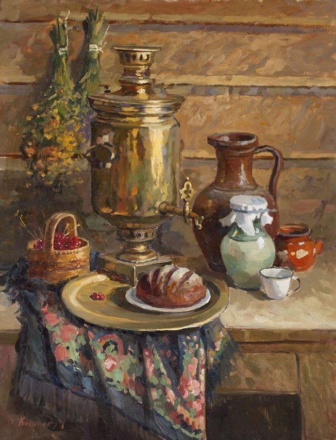 Калинин Михаил. Натюрморт с хлебом