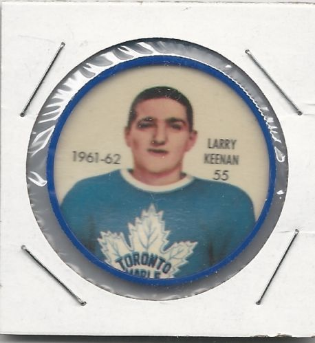 1961-62 Larry Keenan Toronto Maple Leafs Shirriff Hockey Coin # 55 NM-MT