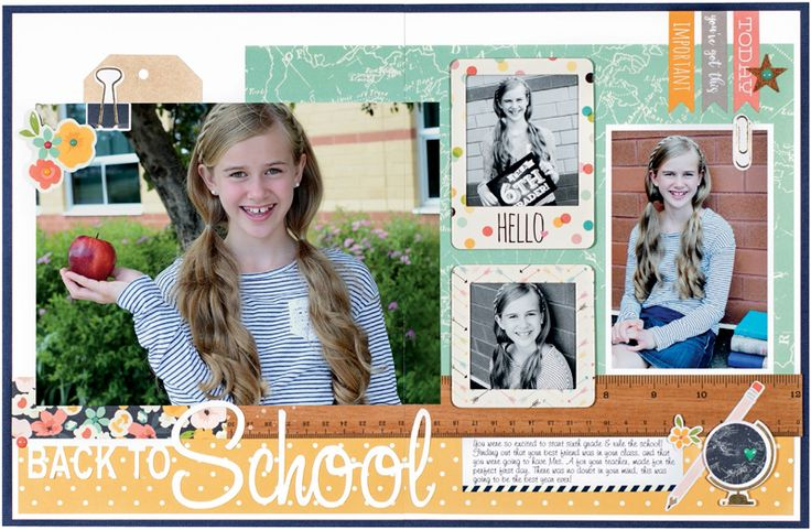 Back to School bu Sheri Reguly for Scrapbook & Cards Today Magazine - Fall 2016