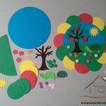 renkli kağıtlardan mevsimler duvar süsü « Evimin Altın Topu