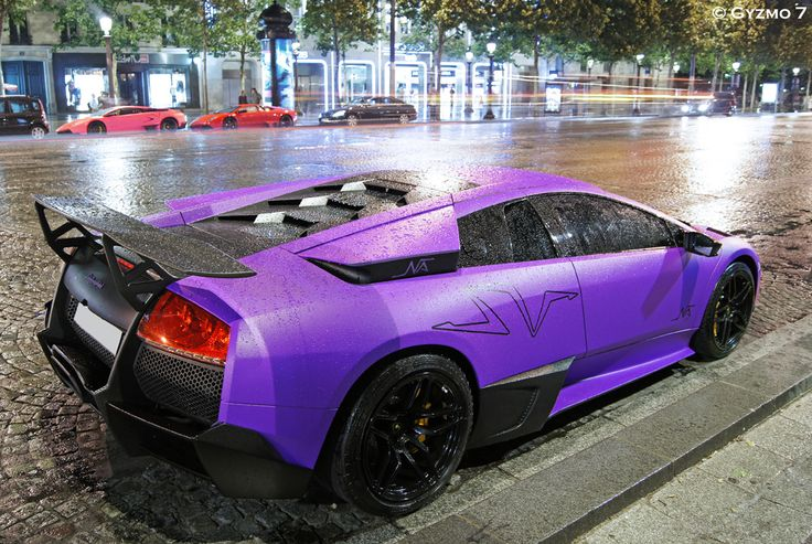 Lamborghini Murcielago LP670-4 SuperVeloce in the rainColors Purple, Purple Cars, Lp670 4 Superveloc, Lamborghini Murcielago, Rain Soramam, Http Pinterest Nets Pin Info, Dreams Cars, Lp6704, Murcielago Lp670 4