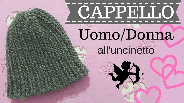 Cappello UOMO/DONNA all'uncinetto - Punto a rilievo davanti e indietro