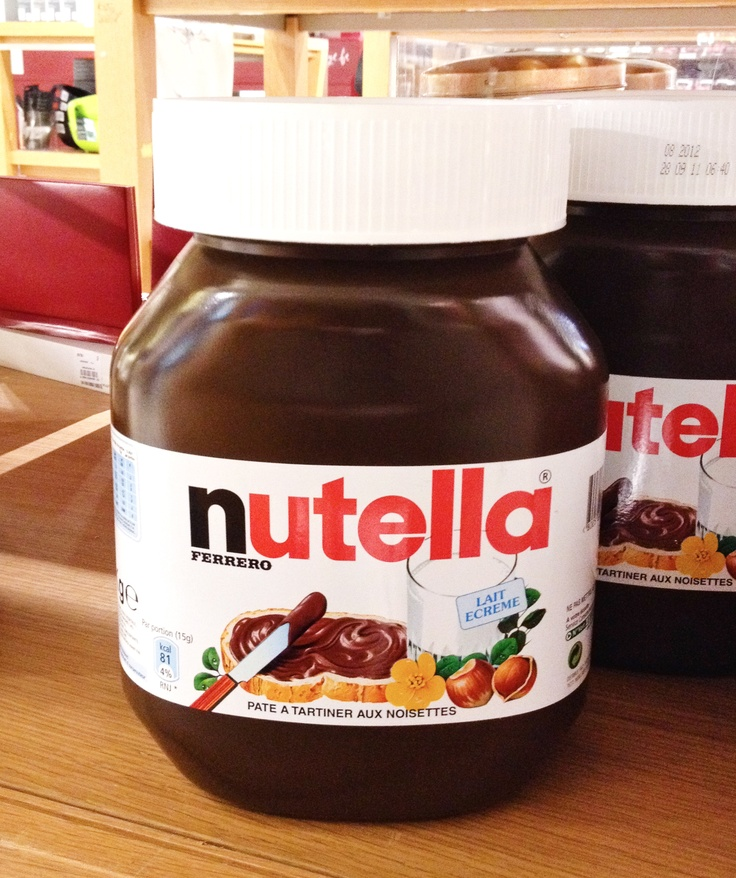 Giant 5 kg (11 lbs) Nutella jar.  Found it at the Galeries Lafayette in Paris.
