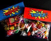 Printable Superhero Birthday Treat Bag Toppers. $8.00, via Etsy.
