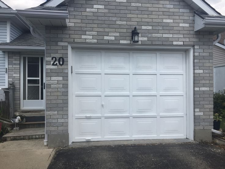 Garage door painted August 2017 holidays
