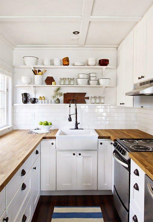 virlova decotips una cocina larga y estrecha no es problema