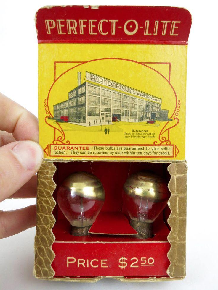 1920s-30s Car Headlight Bulbs Perfect-o-Lite Antique Accessory Ford Plymouth etc  | eBay