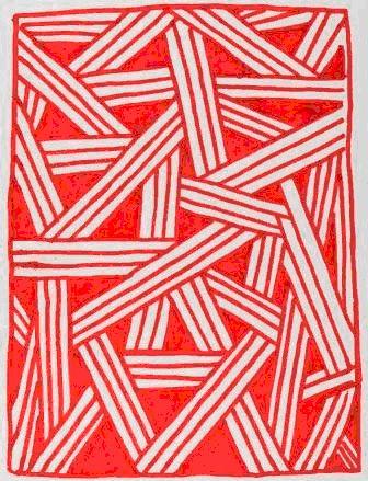 Kusiwá  (arte gráfica Wajãpi)  Desenho sobre papel com o motivo murua soka (pernas de rã)  Asurui Wajãpi, julho de 2010 Povo Wajãpi - Amapá