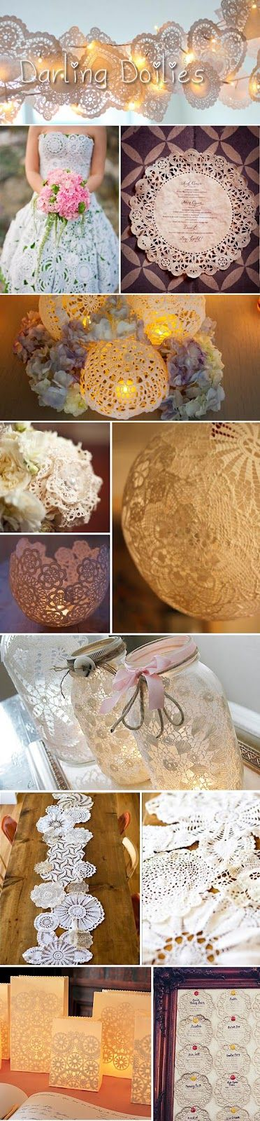 Things We Love - Darling Doily Wedding Decor - My Wedding Reception Ideas | Blog