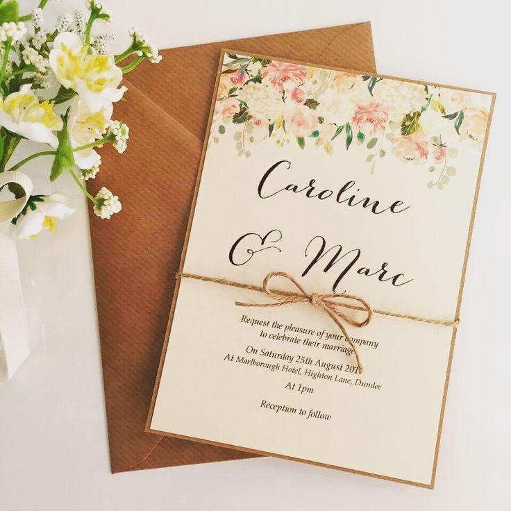 Rustic Caroline Wedding Invitation  www.thevowweddings.com