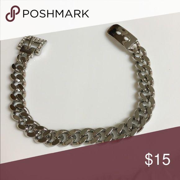 Lia Sophia Buckle Chain Bracelet Lia Sophia silver buckle chain bracelet. Great condition. Lia Sophia Jewelry Bracelets