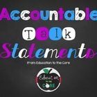 Accountable Talk Statement Posters [Education to the Core]