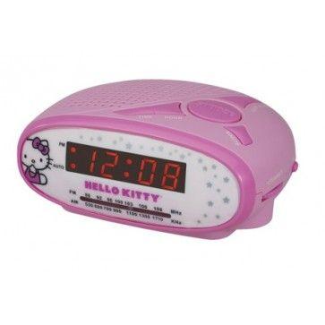 Despertador com Relógio e Rádio AM / FM Hello Kitty (KT2051B) - Rosa  Sua menininha vai adorar ouvir música, ver as horas e ter seu quarto decorado com esse lindo rádio relógio da Hello Kitty. É mesmo uma fofura.