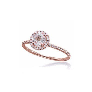 Amazon.com: Meira T 14K Rose Gold Pink Morganite & Diamonds Engagement Ring - Size 5.5: Jewelry
