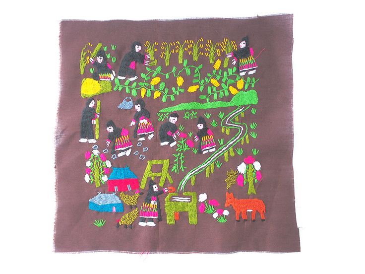 モン族刺繍布
