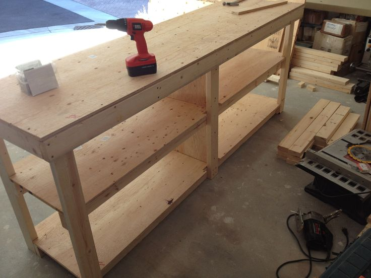 Garage Work Bench Home Ideas Pinterest Garage