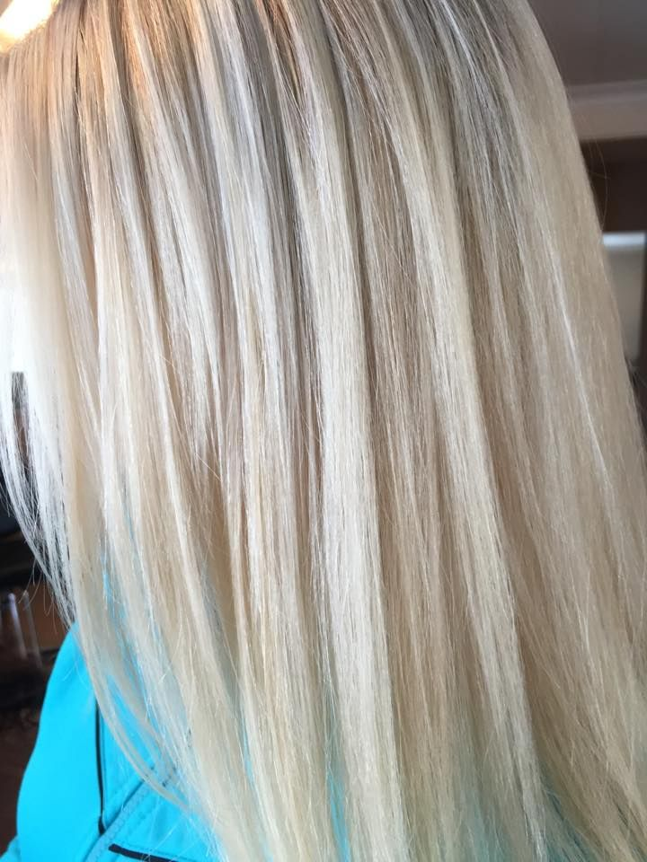 Blonde Waterfall Highlights Platinum Blonde With