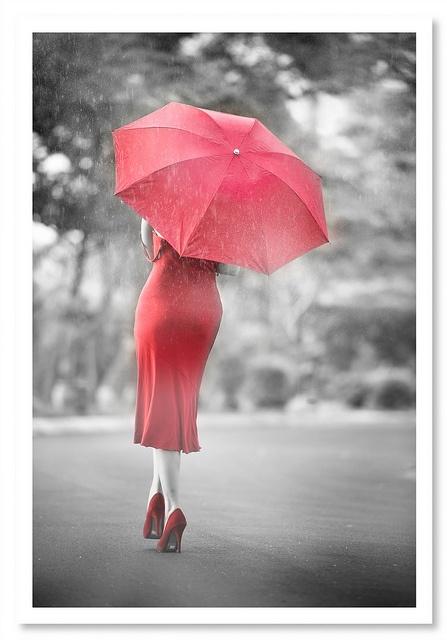 Rojo,lluvia