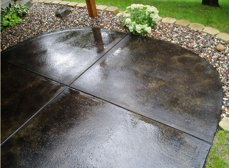 17 best images about garden on pinterest stains dark for Acid wash concrete patio
