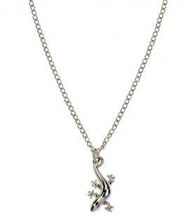 Halskette Gecko im Samtbeutel