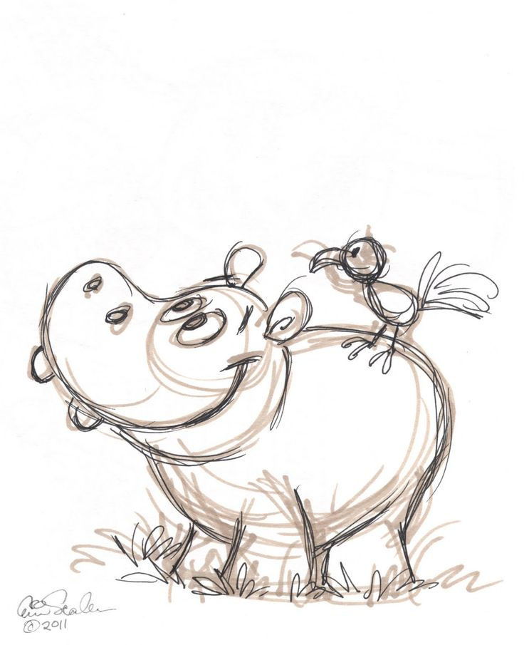 drawings of hippos | Thursday, January 6, 2011