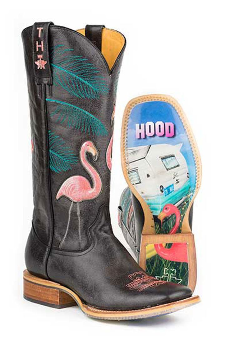 """Tin Haul """"Trailerhood"""" Flamingo Cowboy Boots - HeadWest Outfitters"""