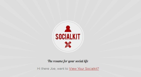Resume for Your Social Life