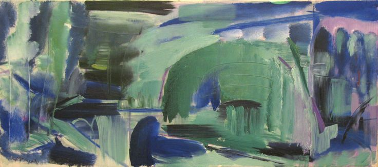 Ivon Hitchens, CBE (1893-1979) ,Avington Water No.1