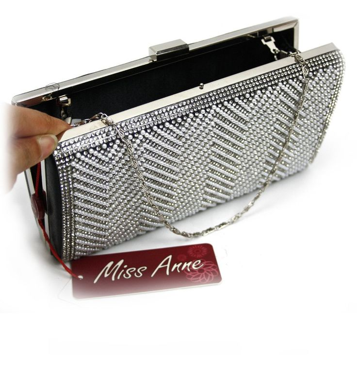 Holly Diamante & Pearl Evening Clutch