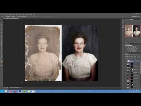 ▶ Timelapse of the Colorization and Restoration of a Damaged Photo - YouTube
