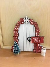 Hand painted Christmas Elf Door And Ladder - Elf On The Shelf