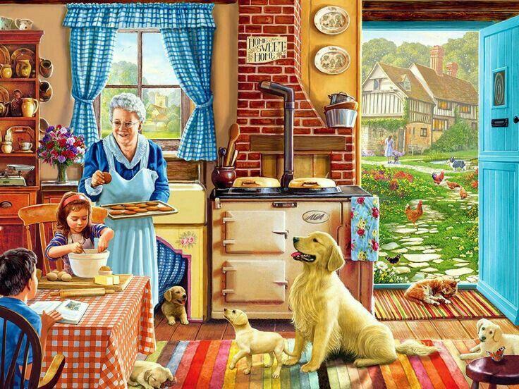 (¯`´¯)  A casa da Vovó    `•.¸.•´ ⁀⋱‿✫✫ A casa da vovó é uma beleza É uma casa cheia de fartura A casa da vovó não tem tristeza É realmente uma gostosura  Tem forno de tijolo na cozinha  Tem ovos de galinha caipira Tem os bichinhos felizes Tem tudo que a gente admira  A casa da vovó é uma maravilha Todos fim de semana reúne a família Vovó fica contente ao lado dos netinhos Tratando com amor seus netos com carinho.