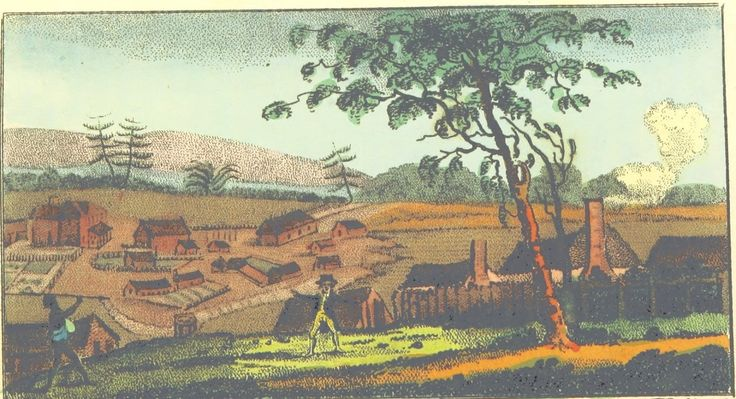 East View of Sydney by V. Woodthorpe Published by M. Jones, Paternoster Row, Feb.1803