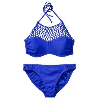 Xhilaration Juniors Braided 2-Piece Swimsuit -Blue