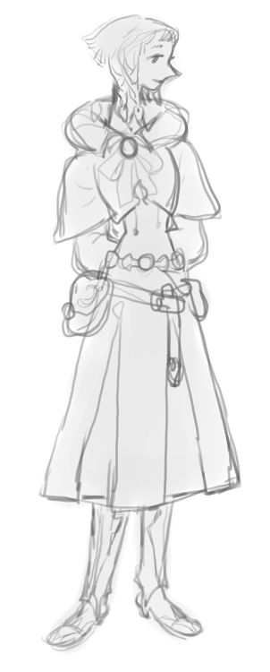 warm up sketch, thought it was alright lookingmy ffxiv character
