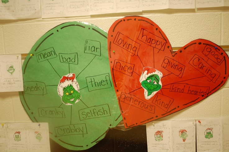 Grinch character traits. Anything to incorporate my favorite Christmas story!