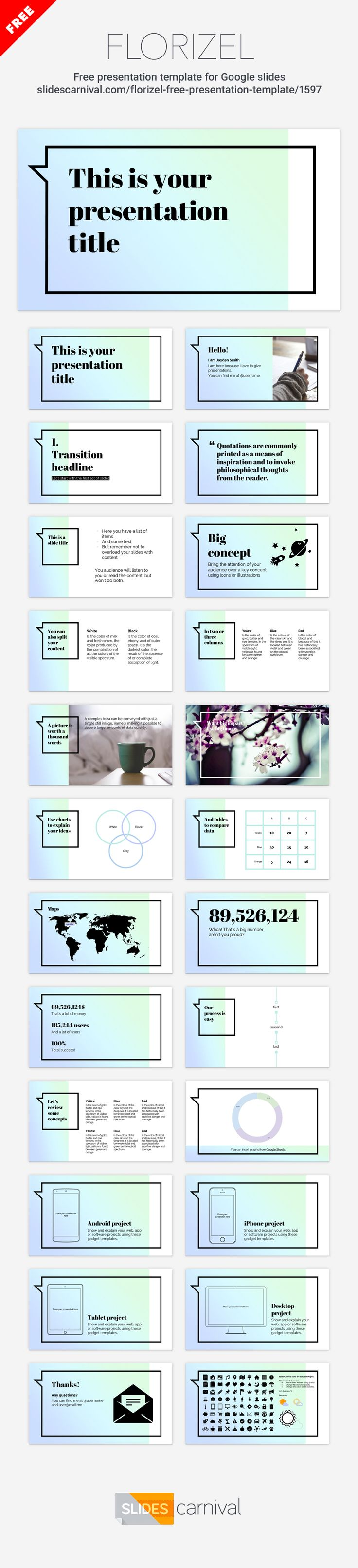 84 best free presentation templates images on pinterest this elegant modern free presentation template will make your content pop and its easy to use fonts and gradient used give a stylish and feminine touch toneelgroepblik Gallery