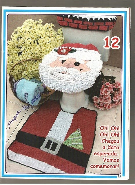 PRECIOUS FINDINGS: Surprise, surprise I love these kind of fun crochet findings, bathroom decor with diagram. On time for the holidays. I would love to make this for my daughter.