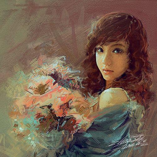 Наивные и мечтательные девушки в картинах талантливой китайской художницы ShuShuhome