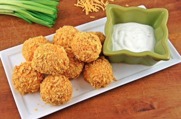 Vegan Buffalo Quinoa Bites | These vegan buffalo quinoa bites are the perfect appetizer to get your non-meat eating friends to join the party.  This bite sized snack packs a punch, both in nutrition and flavor.
