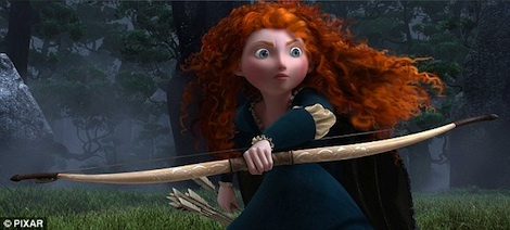 'Harry Potter' stars lend their voices in new animated Pixar production 'Brave' [Kelly Macdonald, whose role in Harry Potter was a very short stint as Helena Ravenclaw (The Grey Lady), is the leading voice as feisty Princess Merida.  Joining MacDonald in the film, are co-stars Emma Thompson [Professor Sybil Trelawney] as Queen Elinor, Robbie Coltrane [Rubeus Hagrid] as Lord Dingwall, and Julie Walters [Molly Weasley] as the Wise Woman.]