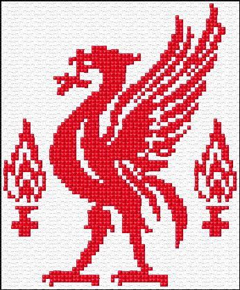 Cross stitch Liverpool Embroidery Kit 1362