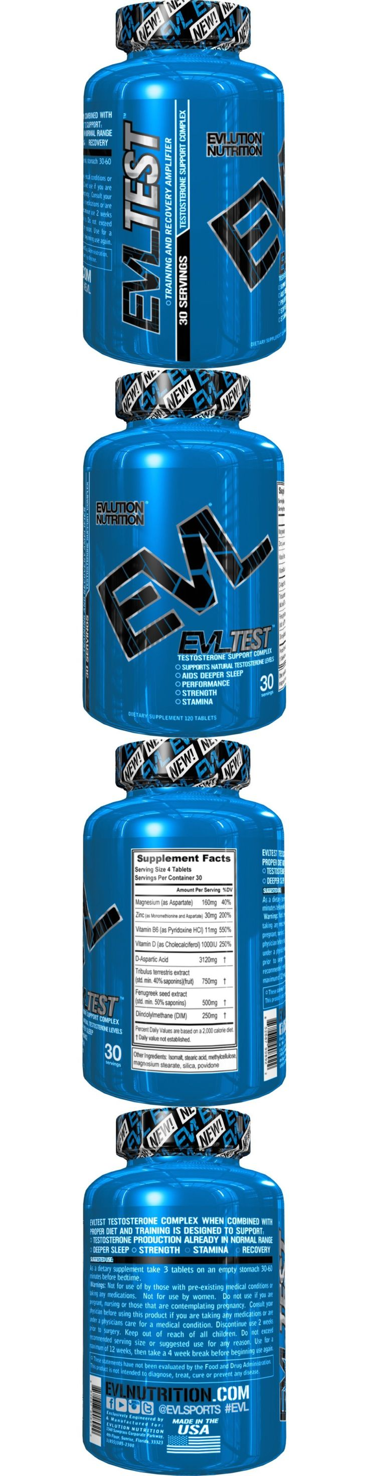 Other Sports Supplements: Evlution Nutrition Evl Test 120 Tablets (30 Servings) Testosterone Booster - New -> BUY IT NOW ONLY: $30.99 on eBay!