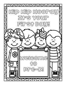 welcome to kindergarten coloring page - freebie back to school coloring pages for pre k through