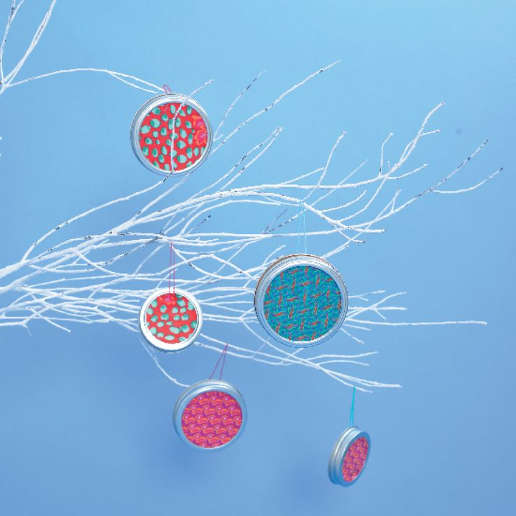 Shweshwe jam jar ornaments #KidsCraft #Ornament #SouthAfrica