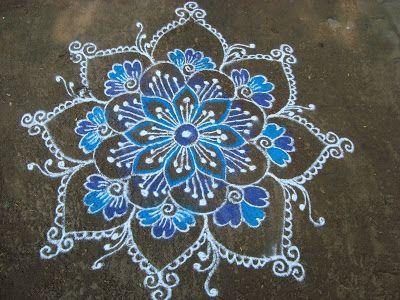 My Kolam: Blue Day Rangoli