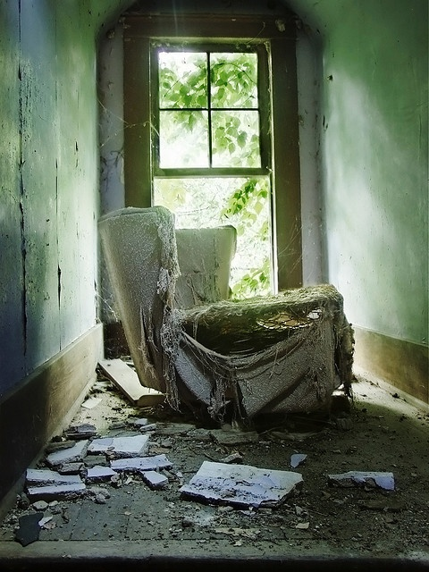 Lost | Forgotten | Abandoned | Displaced | Decayed | Neglected | Discarded | Disrepair | Chair Unsprung