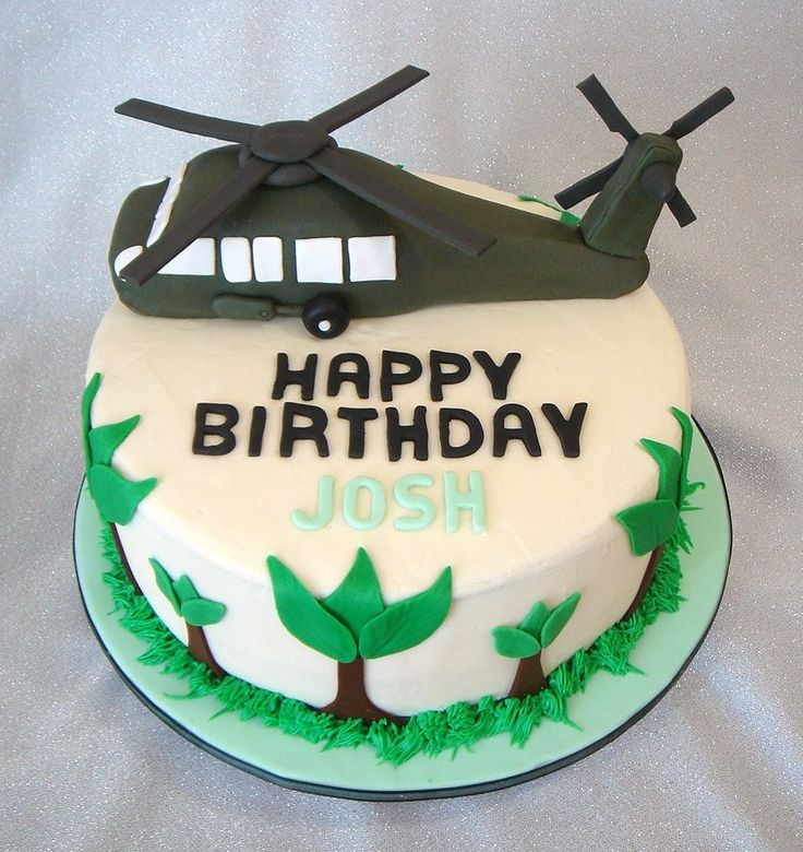 Blackhawk Helicopter Birthday Cake