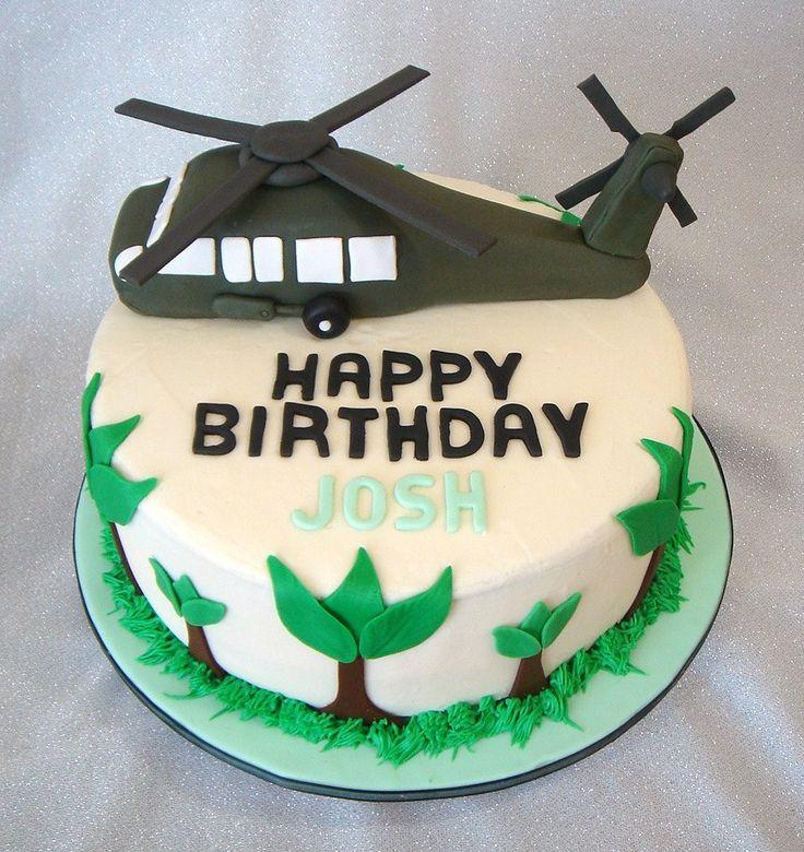 Blackhawk Helicopter Birthday Cake