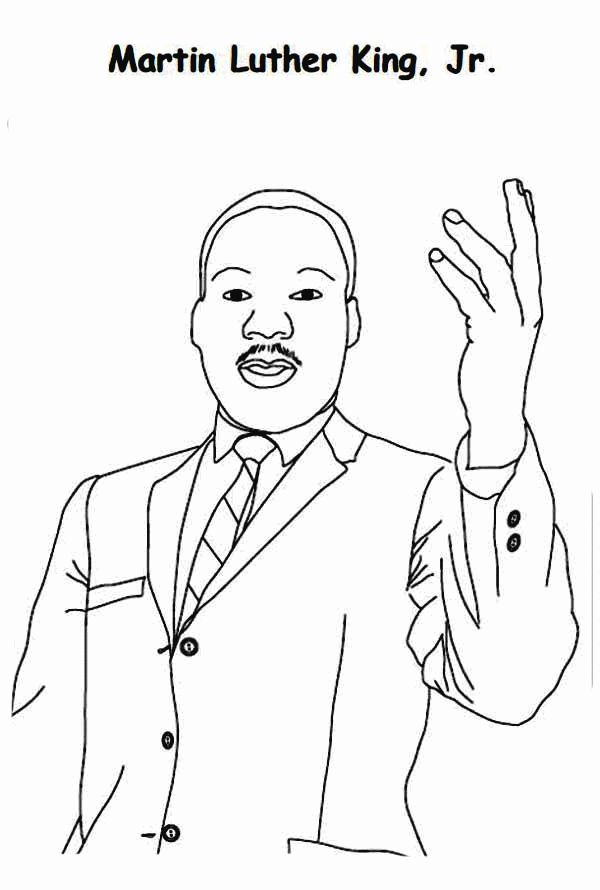 Martin Luther King Coloring Pages | Martin luther, Martin ...
